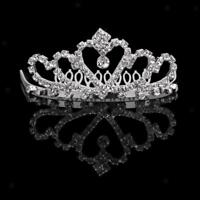 Flower Girls Bridal Crystal Tiara Rhinestone Crown w/Comb Pin for Wedding Party