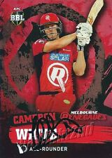 ✺Signed✺ 2015 2016 MELBOURNE RENEGADES Cricket Card CAMERON WHITE Big Bash