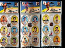 1983/84 FUNMATE NHL PUFFY STICKER PACKS - LOT OF 9 FACTORY SEALED (8 DIFFERENT)