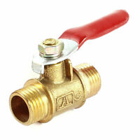 Brass 1/4PT Male Thread Connector Full Port Shut Off Ball Valve
