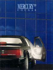 Mercury Cougar 1989 USA Market Sales Brochure LS XR7