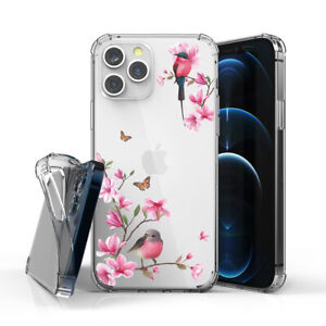 For ip12/11/XR,Magsafe Shockproof TPU Bumper Thin Fit Flower Humming Bird
