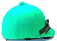Green w/ Black Bow Helmet Helpers Equestrian Helmet Cover Horse Tack