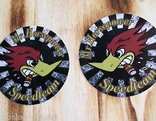 "Us v8 car rockabilly rod/vintage old school sticker ""Horsepower""/Autocollant"