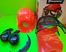 New Husqvarna Pro Ratchet Forest Helmet 576235401 Protective Hard Hat - B4