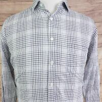 BILLY REID STANDARD CUT ITALY MADE LONG SLEEVE STRIPED BUTTON UP SHIRT MENS SZ L