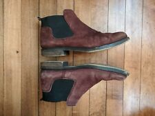 Women's Franco Sarto Claudia 8 M Suede Burgundy Ankle Boots Leather Booties
