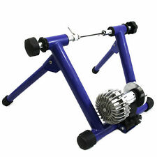 Indoor Fluid  Bike Trainer Stand Bicycle Resistance Exercise Stationary Blue