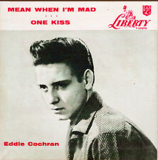 EDDIE COCHRAN – LIBERTY 45 SP -BLACK Wax MEAN WHEN I'M MAD -LIMITED EDITION -NEW
