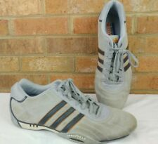 Team Adidas Racing Sneakers Low US 13 Goodyear soles Suede Gray Blue Orange
