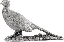 More details for hallmarked silver model pheasant / bird figure / statue (new)