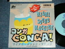 "GLORIA ESTEFAN MIAMI SOUND MACHINE Japan 1985 PROMO 7""45 CONGA"