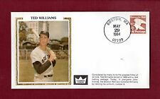 Ted Williams, Red Sox ~ 5/29/84 Cover Commemorating Uniform #9 Retirement