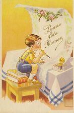 CPA FANTAISIE BONNE FETE MAMAN ENFANT DESSIN