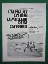 11/1981 PUB DASSAULT BREGUET DORNIER ALPHA JET PATROUILLE DE FRANCE ARMEE AIR AD