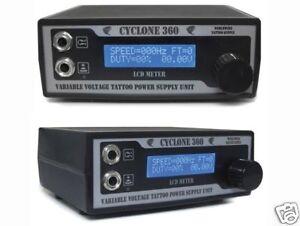 CYCLONE Tattoo Power Supply Unit 10-Turn LCD Display