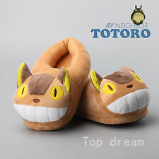 My Neighbor Totoro Bus Cat Plush Slipper Soft Doll Warm Indoor Shoes 11'' 28 CM