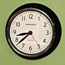 Newgate Cookhouse Wall Clock - Black - Designed in Great Britain - VERY NICE!