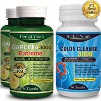 120 Garcinia 5000mg 95% HCA Capsules 60 Detox Slimming Weight Loss Diet Slimming