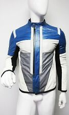 New 3,649 Gucci Men's Multi-color Motorcycle Leather Zipper Jacket size 48