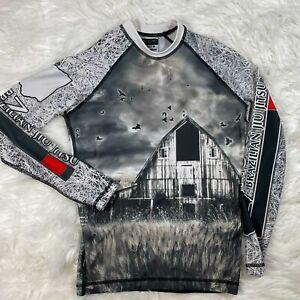 10th Planet Jiu Jitsu Farm Scarecrow Rashguard L/S Shirt No Coast BJJ Sz S Small
