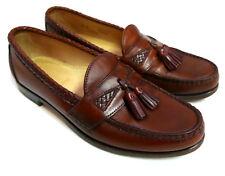 Allen Edmonds Maxfield Brown Leather Tassel Loafers size 8 1/2 B Narrow