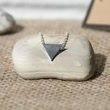 Stainless Steel Triangle Necklace + Canvas Gift Bag