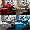 Luxury Gran Reno 100% Polyester Duvet Set Throw with Pillow Case & Curtains