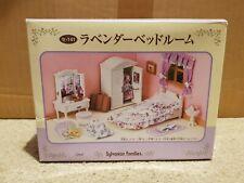 Sylvanian Families Calico Critters White Purple Guest Bedroom Set JP Boxed