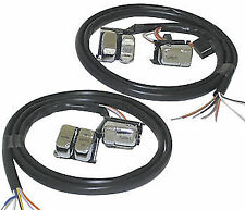 "HARLEY SWITCHES CHROME WITH 48"" EXTENDED WIRING. MOST HARLEY DAVIDSON 96-06"