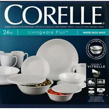 Corelle Classic 24-Piece Winter Frost White Dinnerware Set