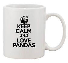 Keep Calm And Love Red Pandas Bear Animal Lover Funny Ceramic White Coffee Mug