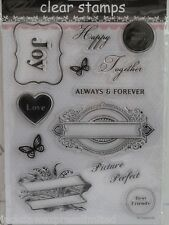 Individual Acrylic Clear Stamps 12 Designs Joy Love Best Friends   (1746)