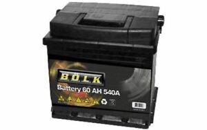 BOLK Batterie de démarrage 60ah / 540A pour CITROEN C3 PEUGEOT 207 BOL-C021713E