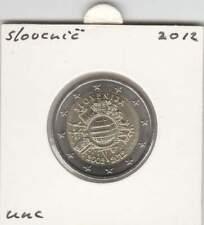 Slovenië 2 euro 2012 UNC : 10 Jaar Euro munt
