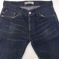 Levi's 506 Mens Jeans W33 L34 Dark Blue Regular Fit Straight High Rise