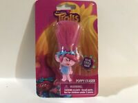 "Poppy Pink Troll 3"" Eraser W/Pink Real Troll Hair By Dreamworks Packaged New!"