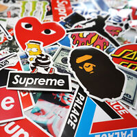 100 Sticker Pack, Supreme Bape Hypebeast Laptop Skateboard Stickers