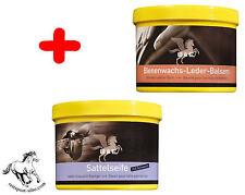 Spar Set Sattelseife m.Schwamm + Bienenwachs-Leder-Balsam + TUCH je 500 ml