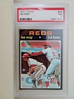 1971 Topps Lee May Cincinnati Reds #40 Baseball Card PSA 7