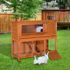 """PawHut D51009 48"""" Rabbit Hutch Cage for Guinea Pig"""