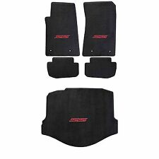 2010-15 Camaro Coupe Ebony 5pc Ultimat Floor & Trunk Mats Set - Red SS Logos