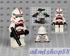 LEGO Star Wars - Shock Trooper Minifigure 7655 7671 Red Markings Minifig Clone A