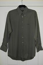 Pierre Cardin shirt size L. 100% cotton. Army green.Button down collar.