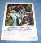 "1974 Appliance Wheels Vintage Mag Wheel Ad ""Best of Both Worlds""  photo"