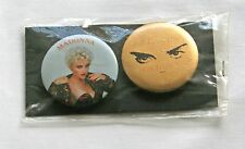 """Madonna Official Tour Goods """"Who's That Girl Tour"""" Sealed Can Badges JAPAN 1987"""