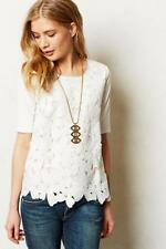 SUNDAY IN BROOKLYN Anthropologie Ivory Embroidered Lace ORLAYA TOP M