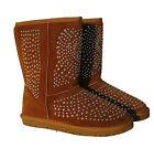 Botas mujer Zapatos Botas De Invierno Remaches Palanqueta Botines Mimoso cálido