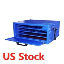 US Stock 4 Layers Screen Printing Drying Cabinet Exposure Warming Machine 800W