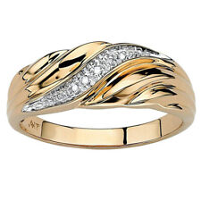 Women Rings Engagement Gold Plated Rhinestone Twisted Chic Ring Jewelry Gift 6A